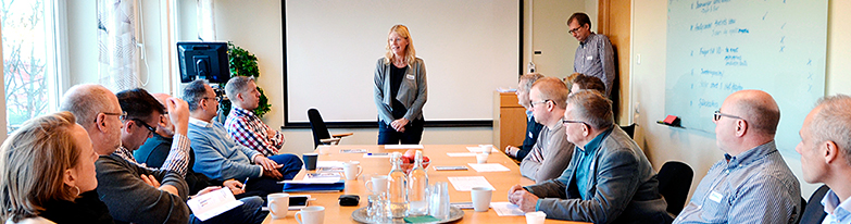 Annika Jederström från Sveriges Ingenjörer leder deltagarna i workshopen.