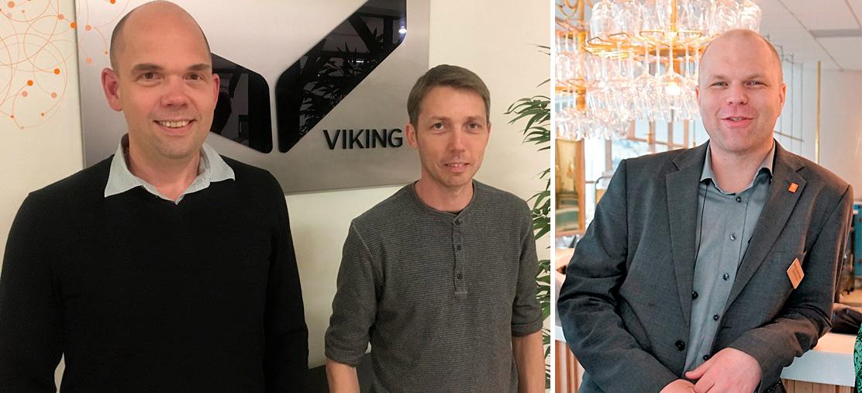 Magnus Söderberg, vd för Viking Beds of Sweden, Björn Sigurd, ingenjör Viking Beds of Sweden och David Andersson, processledare för Den första ingenjören.